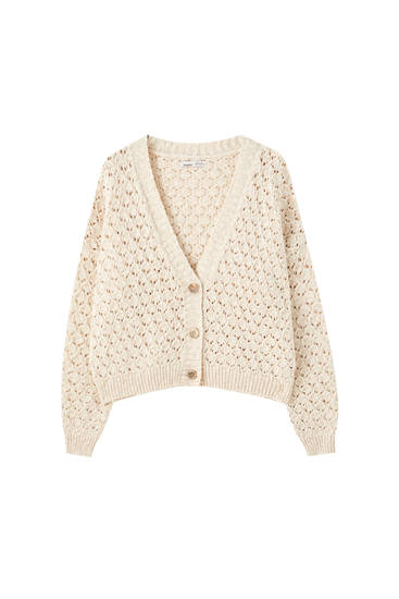 Open-knit rustic jacket