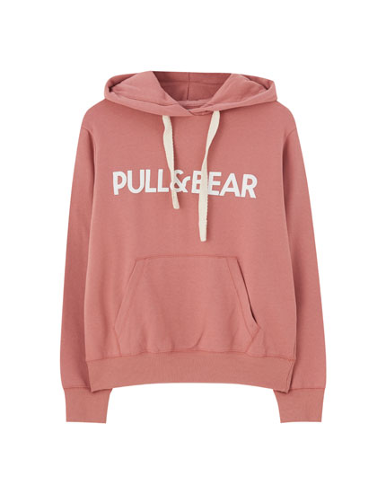 Hoodie with pouch pocket and logo