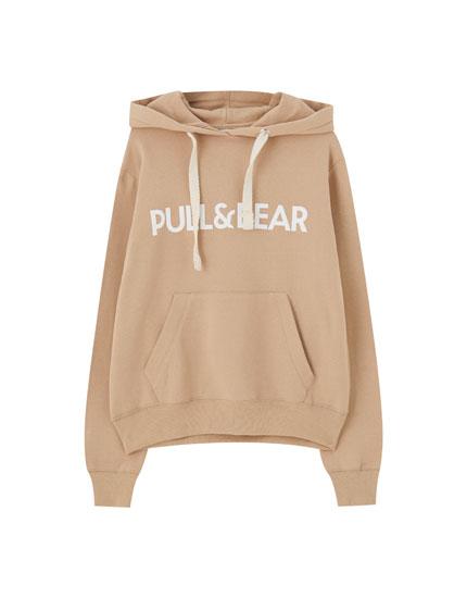 Φούτερ με λογότυπο και τσέπη hoodie