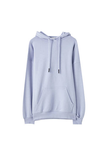 Basic oversize pouch pocket hoodie