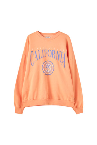 Sweat orange avec université de Californie