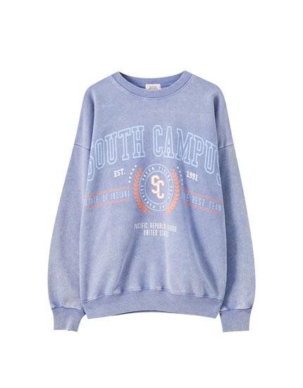 """Lavender """"South Campus"""" sweatshirt"""
