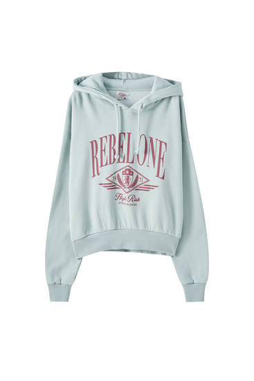 Blue hoodie with