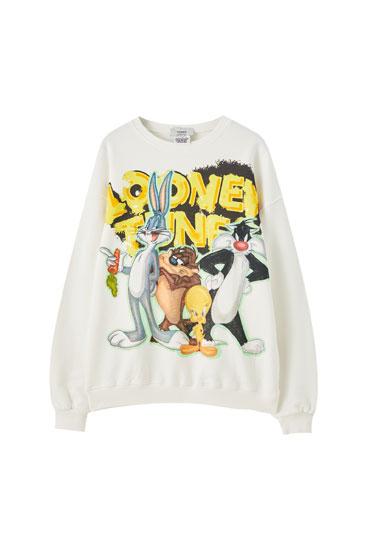 White Looney Tunes sweatshirt