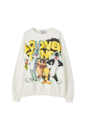 White Looney Tunes sweatshirt