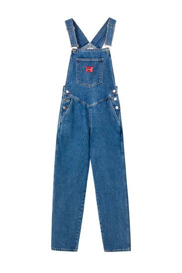 "Jeans-Latzhose im 80er-Jahre-Stil ""Micky Maus"""
