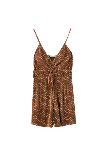 Strappy playsuit with elastic waist