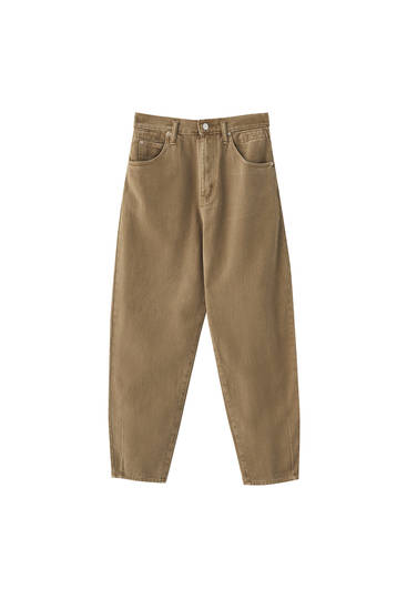 Five-pocket trousers with elastic waistband