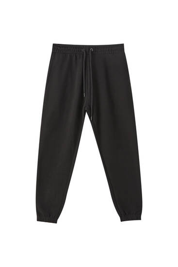 Basic jogging trousers with elastic hems