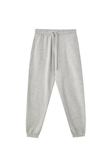 Elastik paçalı basic jogging fit pantolon