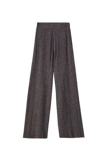 Παντελόνι culotte από ελαφρύ ύφασμα