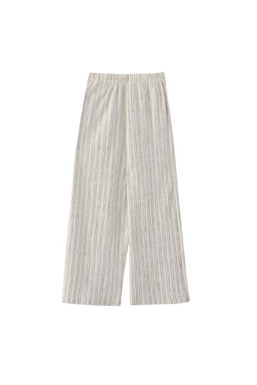Rustic striped culottes