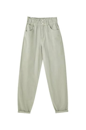 Slouchy-Jeans mit breitem Gummizug