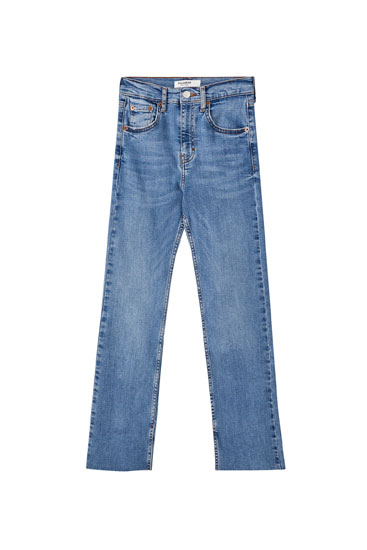 İspanyol paça distressed jean