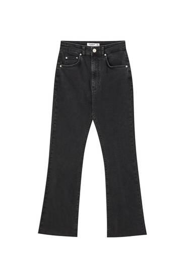 Basic-Jeans-Schlaghose