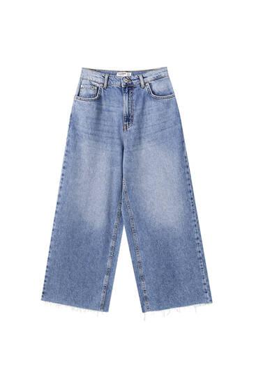 Базові джинси-кюлоти