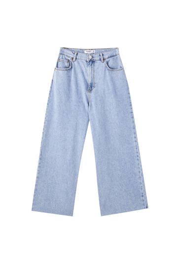 Jeans culotte básicos algodón