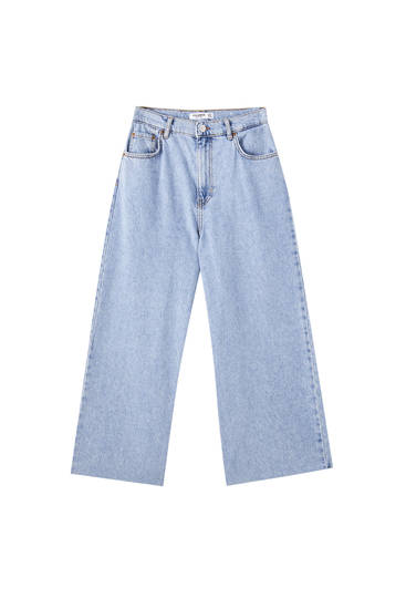 Basic cotton culotte jeans