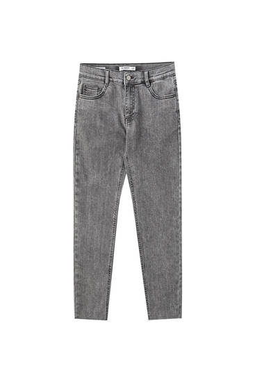 Mid-waist capri skinny jeans