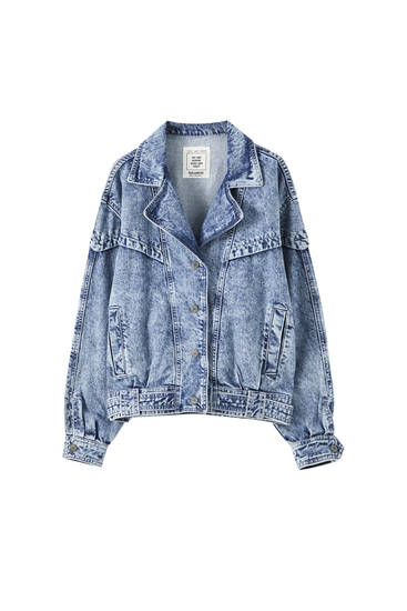 80s-inspired denim jacket