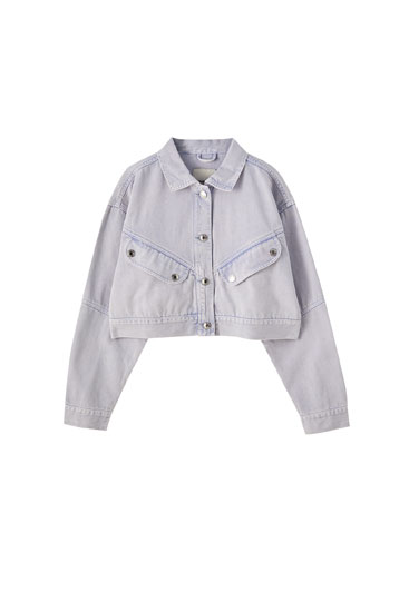 Mauve denim jacket