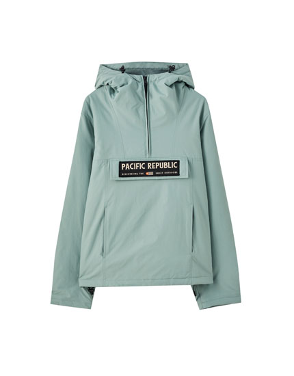 Anorak jacket with contrast patch