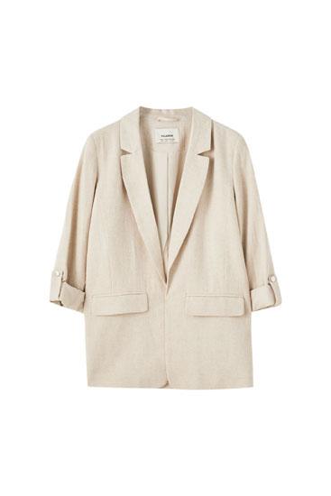 Rustic linen blazer