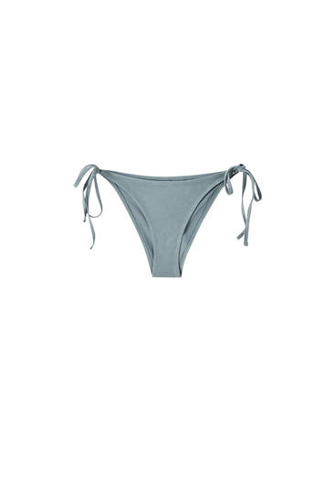 Washed-effect bikini bottoms
