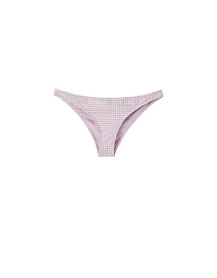 Gingham check classic bikini bottoms