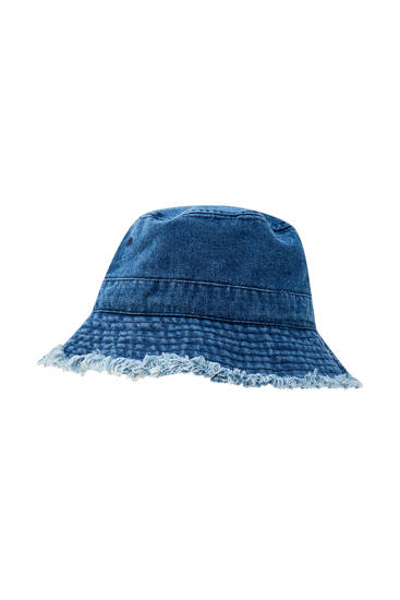 Chapeau bob tissu jean