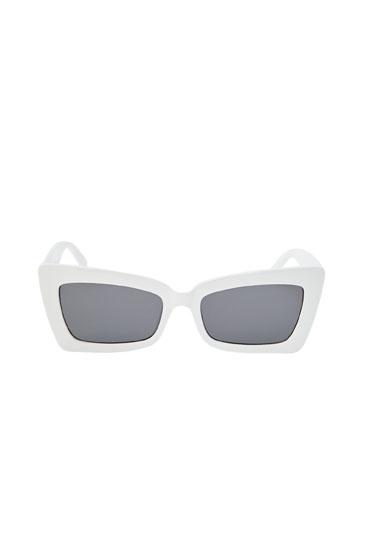 Dikdörtgen cat eye güneş gözlüğü