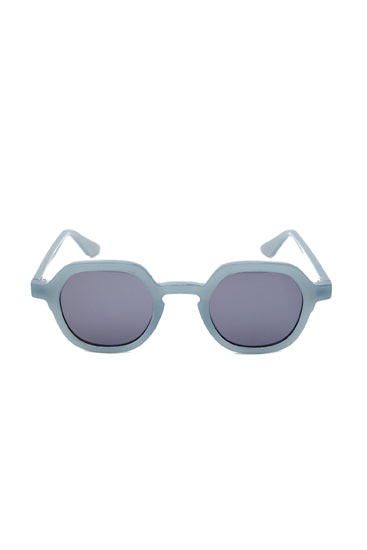 Blue geometric sunglasses