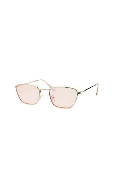 Lentes de sol cristais rosas