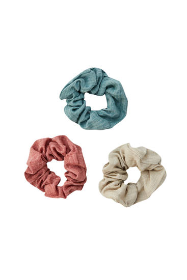 3-pack of basic scrunchies