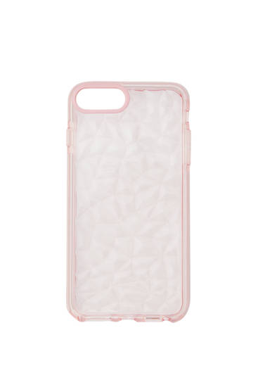 Coque smartphone bords roses