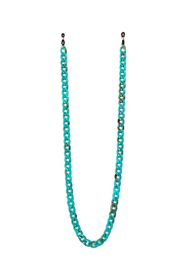 Glasses cord with turquoise links