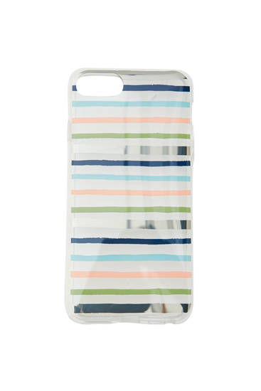 Transparent striped smartphone case