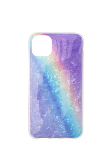 Marbled rainbow smartphone case