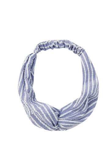 Blue stripe headband
