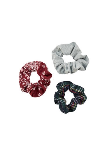 Two-pack of bandana scrunchies
