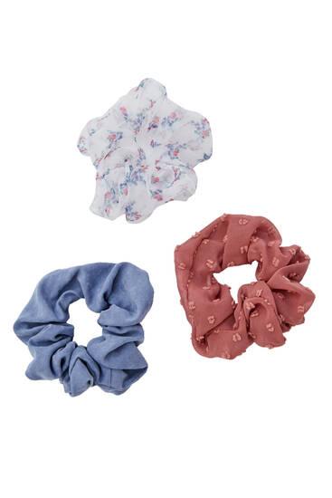 Pack de 3 chouchous texturés