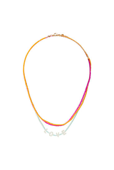 Pack 3 collares abalorios multicolor