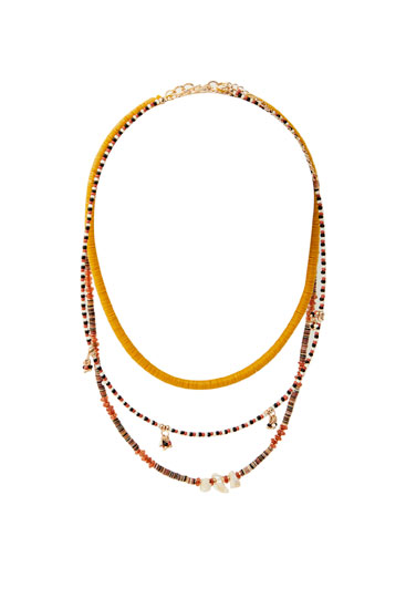 3-pack of orange necklaces