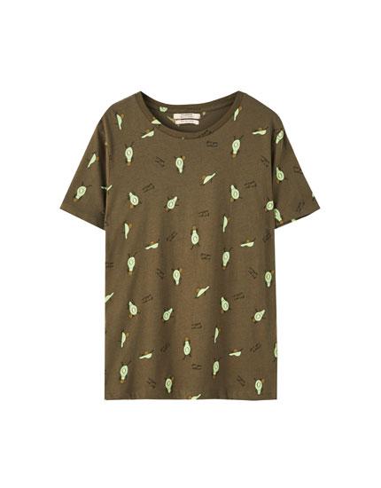 Camiseta print aguacates
