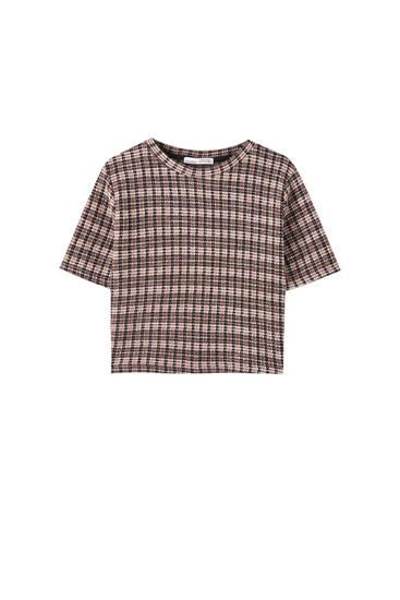 Contrast round neck T-shirt