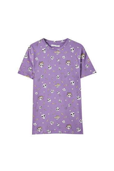 T-shirt with contrast print