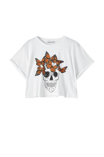 Skull illustration T-shirt
