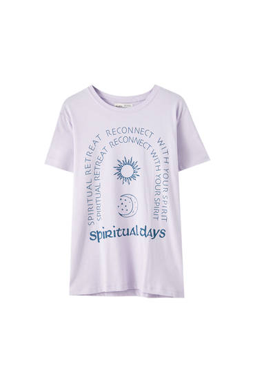 "T-shirt with ""Palmistry"" illustration"