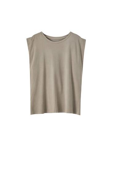 Ärmelloses Shirt mit weiter Schulterpartie