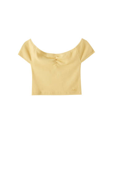Gathered bandeau top
